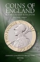 Photo de la couverture de : David Fletcher (editor); 2021. Coins of England & the United Kingdom : Decimal Issues (7th edition). Spink & Son, London, United Kingdom.