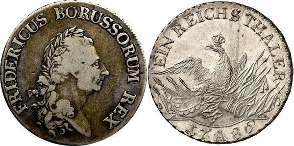 1 Reichsthaler Friedrich Ii Royaume De Prusse Numista