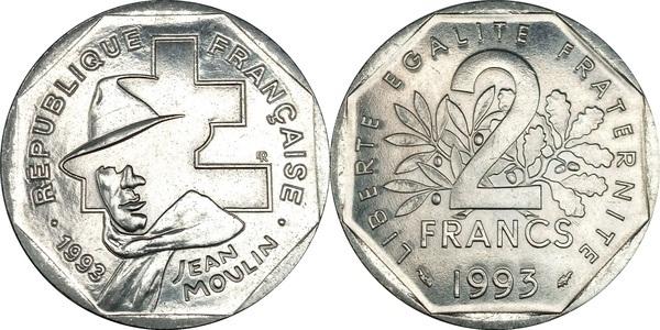 2 Francs Jean Moulin France Numista
