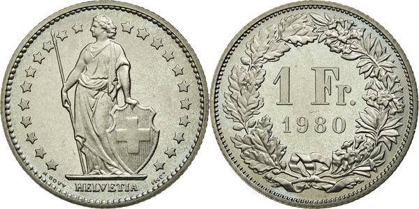 1 Franc Helvetia Debout Cupronickel Suisse Numista