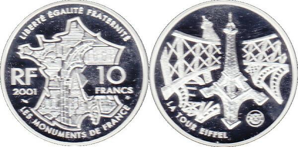 10 francs tour eiffel france numista. Black Bedroom Furniture Sets. Home Design Ideas