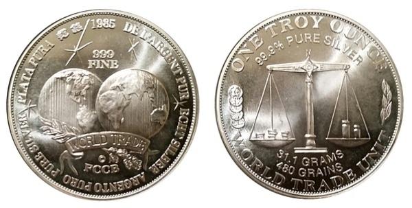 1 Oz Silver World Trade Unit Exonumia Numista