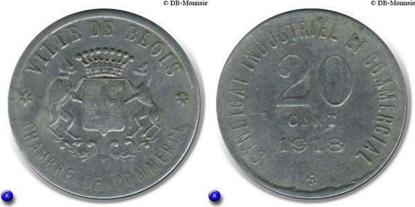 20 centimes ville de blois 41 france notgeld numista - Chambre du commerce blois ...