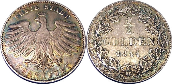 Gulden ville libre imp riale de francfort numista for Gulden interieur