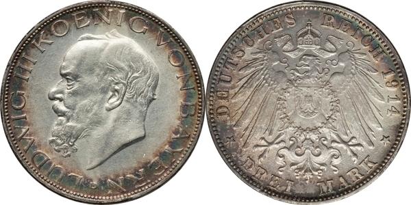 3 Mark Ludwig Iii Royaume De Bavière Numista