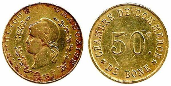 50 centimes chambre de commerce de b ne alg rie numista for Chambre de commerce skikda
