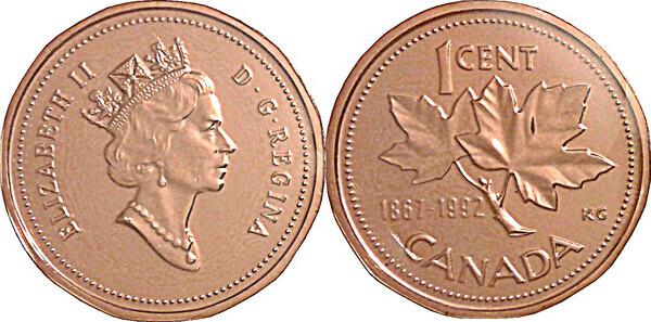1 Cent La Conf 233 D 233 Ration 125 Ans Canada Numista