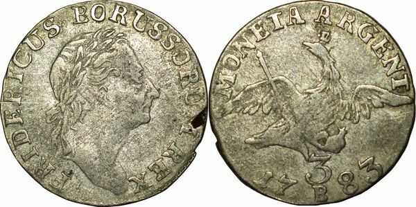 3 Kreuzer Friedrich Ii Royaume De Prusse Numista