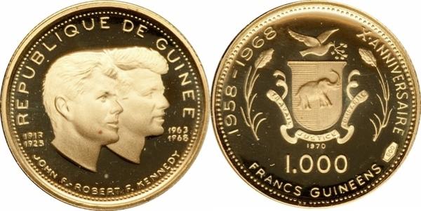 1000 Francs Guinéens John Et Robert Kennedy Guinée Numista