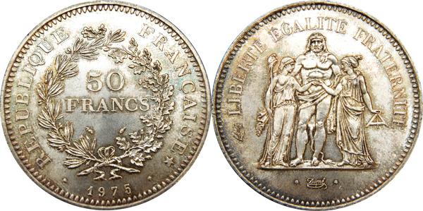 50 Francs Hercule Argent France Numista