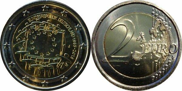 2 Euros Drapeau Européen Allemagne République Fédérale Numista