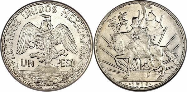 1 peso mexique numista