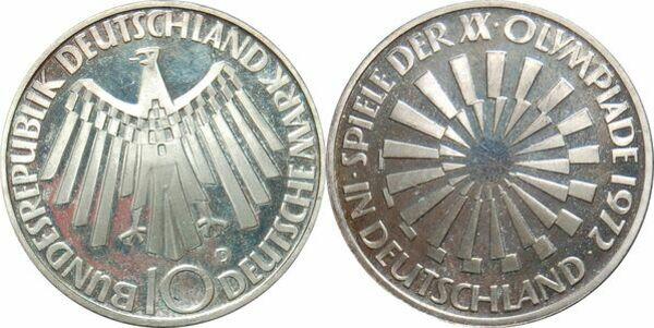 10 Deutsche Mark Jeux Olympiques De Munich Allemagne République