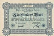 500 Mark (Aachen, Stadt- und Landkreis) – avers