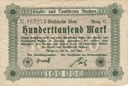 100,000 Mark (Aachen, Stadt- und Landkreis) – avers