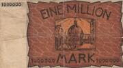 1,000,000 Mark (Aachen, Stadt- und Landkreis) – revers