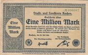 1,000,000 Mark (Aachen, Stadt- und Landkreis) – avers