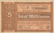 5,000,000 Mark (Aachen, Stadt- und Landkreis) – avers