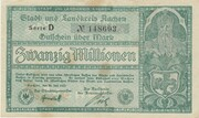20,000,000 Mark (Aachen, Stadt- und Landkreis) – avers