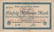 50,000,000 Mark (Aachen, Stadt- und Landkreis) – avers