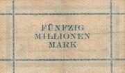 50,000,000 Mark (Aachen, Stadt- und Landkreis) – revers