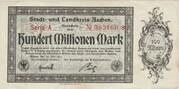 100,000,000 Mark (Aachen, Stadt- und Landkreis) – avers