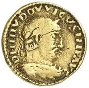 1 solidus Ludwig I – avers