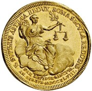 1 Ducat (Treaty of Aix-la-Chapelle & 100th Anniversary of Dutch Independence) – revers