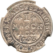 1 marck Francis I – avers