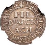 3 marck Joseph I – avers