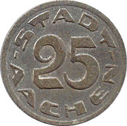 25 pfennig - Aachen – avers