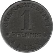 1 pfennig - Aalen – avers