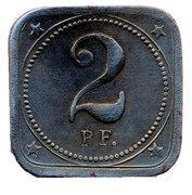 2 Pfennig - Aalen – revers