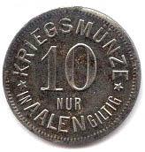 10 pfennig - Aalen – revers