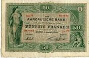 50 francs (Aargauische Bank) -  avers
