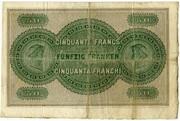 50 francs (Aargauische Bank) -  revers