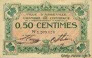 50 centimes - Ville et Chambre de Commerce d'Abbeville [80] <Filigrane abeilles, sans timbre sec> – avers
