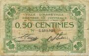 50 centimes - Ville et Chambre de Commerce d'Abbeville [80] <Sans filigrane, sans timbre sec> – avers