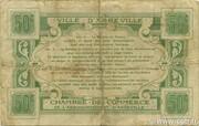 50 centimes - Ville et Chambre de Commerce d'Abbeville [80] <Sans filigrane, sans timbre sec> – revers