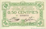 50 centimes - Ville et Chambre de Commerce d'Abbeville [80] <Sans filigrane, avec timbre sec> – avers