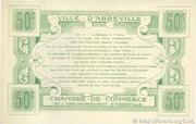 50 centimes - Ville et Chambre de Commerce d'Abbeville [80] <Sans filigrane, avec timbre sec> – revers