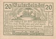 20 Heller (Abetzberg) – revers