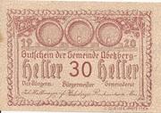 30 Heller (Abetzberg) – avers