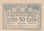 50 Heller (Abetzberg) – avers