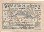50 Heller (Abetzberg) – revers