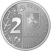 2 apsars (Bison d'Europe) – avers