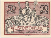50 Heller (Abtenau) – avers
