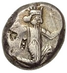 Siglos - Darius II / Artaxerxes II (THE ROYAL COINAGE - 4th type B - middle) – avers
