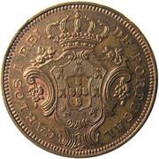 10 réis - Charles I  – avers