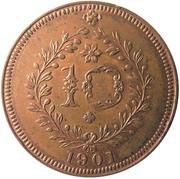 10 réis - Charles I  – revers